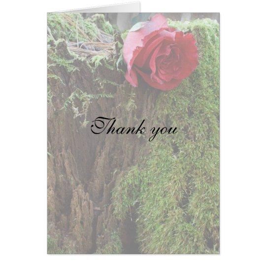 Rose auf einem Stumpf Mitteilungskarte