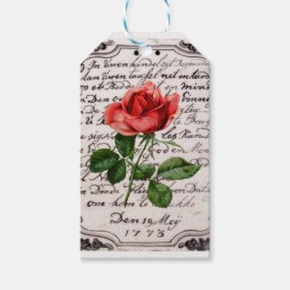 Rose auf Stein Geschenkanhänger