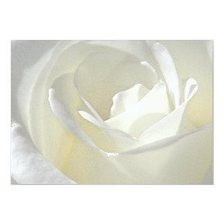 Rose blanc d'invitation de Love_ Carton D'invitation 12,7 Cm X 17,78 Cm