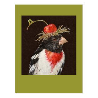 Rose-breasted Grosbeakpostkarte Postkarte