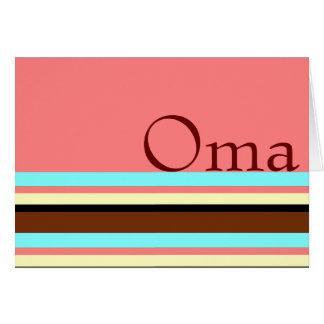 Rose crème du brun bleu d'Oma Carte De Vœux