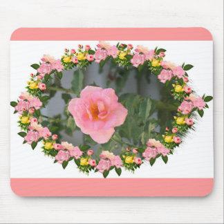 rose de rose tapis de souris
