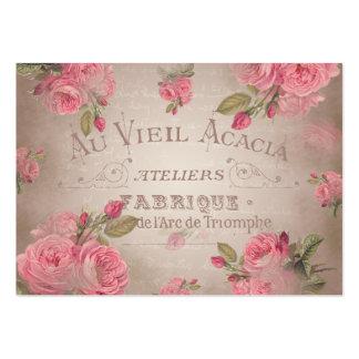 Rose de roses shabbychic vintage français floral carte de visite grand format