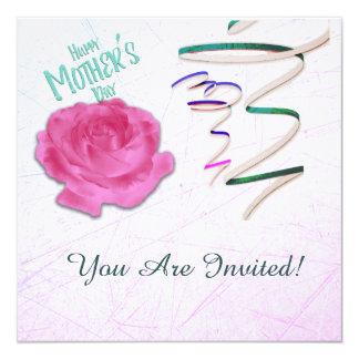 Rose der Mutter Tagesund Confetti-Einladung Quadratische 13,3 Cm Einladungskarte