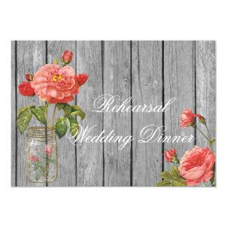 Rose der Orleans-Proben-Hochzeits-Einladungs-Karte Karte