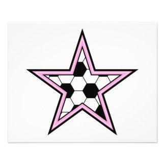 rose d'étoile du football prospectus 11,4 cm x 14,2 cm
