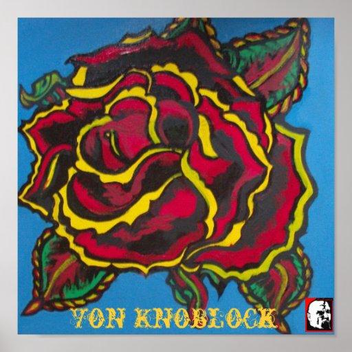 Rose durch Von Knoblock Plakat