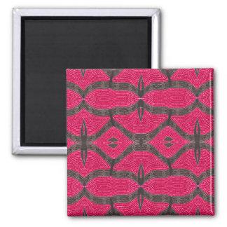 rose et gris magnet carré