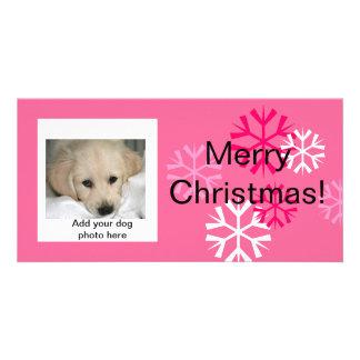 Rose fait sur commande de cartes photos de Noël de Photocarte Personnalisée