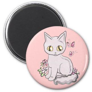Rose frais de chat de Kitty Aimant