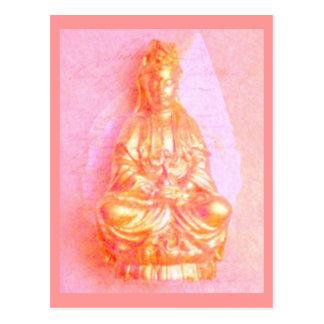 Rose-GoldKwan Yin Postkarte