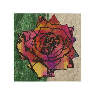 Rose Holzleinwand