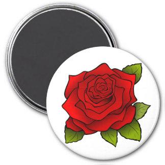Rose im volle Blüte-runden Magneten Runder Magnet 7,6 Cm
