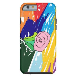 Rose in einer Landschaft Tough iPhone 6 Hülle