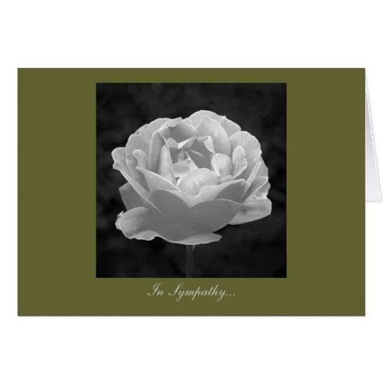 Rose in Schwarzweiss - im Beileid Grußkarte