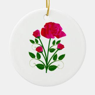 Rose Keramik Ornament