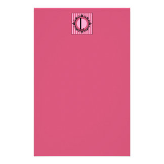 """Rose """"L"""" monogramme Papeterie"""
