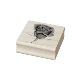 Rose mit Stamm Gummistempel