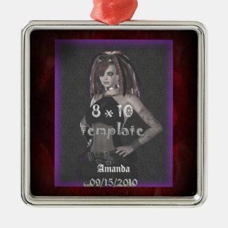 Rose sind roter Bonbon eine 16-Geburtstags-Kunst Silbernes Ornament