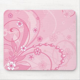 rose tapis de souris