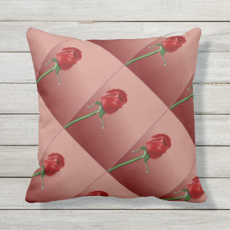 Rose überprüftes Muster Kissen Für Draußen