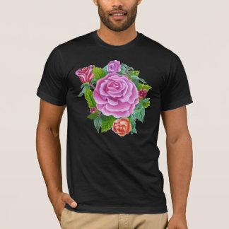 Rose und Blumen T-Shirt