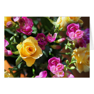 Rose und Freesia Karte