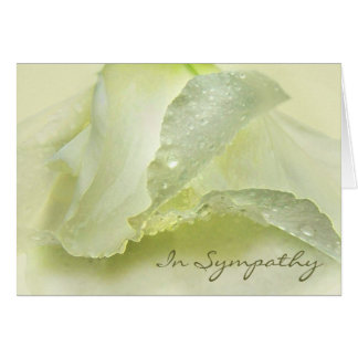 Rosée sur la carte ene ivoire de condoléance de