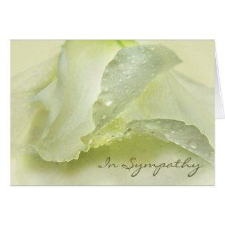Rosée sur la carte ene ivoire de condoléance de sy