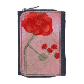 Rosegifts Blumenstrauß-Rosendenimgeldbörse