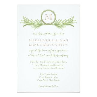 Rosemarysprigs-Kräuterhochzeit 12,7 X 17,8 Cm Einladungskarte