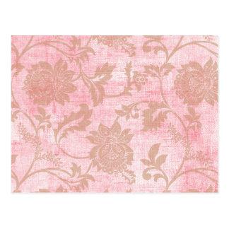 Rosen-Bänder und Spitze Postkarte