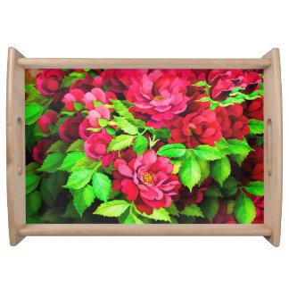 Rosen-Blume Behälter Tablett