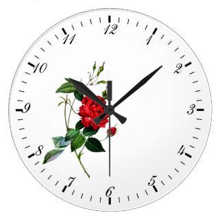 Rosen-Blume Große Wanduhr