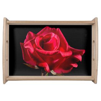 Rosen-Blumen-Blumenblüte Serviertabletts