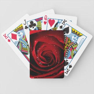Rosen-BlumenBlumen-Rosen-Blumenblatt-Blüten-Tau Bicycle Spielkarten