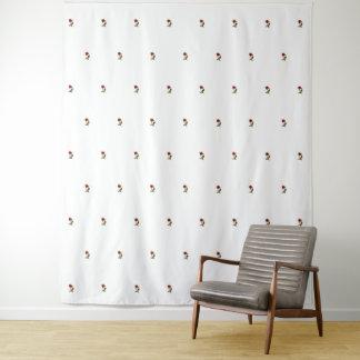 Rosen-Blumenphotographie-Offsetreihen-Muster Wandteppich