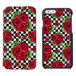 Rosen-Blumenstrauß-BlumenLiebe Rockabilly Incipio Watson™ iPhone 6 Geldbörsen Hülle