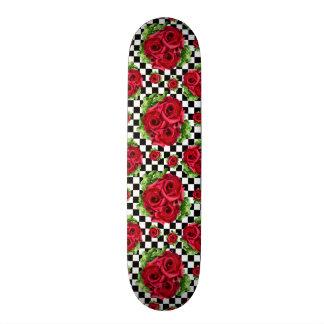 Rosen-Blumenstrauß-BlumenLiebe Rockabilly Personalisierte Skateboards