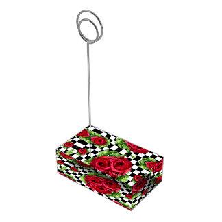 Rosen-Blumenstrauß-BlumenLiebe Rockabilly Platzkartenhalter