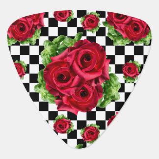 Rosen-Blumenstrauß-BlumenLiebe Rockabilly Plektron