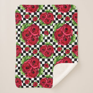 Rosen-Blumenstrauß-BlumenLiebe Rockabilly Sherpadecke