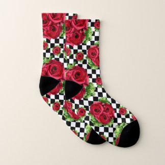 Rosen-Blumenstrauß-BlumenLiebe Rockabilly Socken