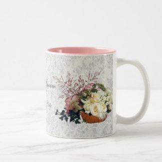 Rosen-Blumenstrauß-Gastgeschenk Hochzeits-Tasse