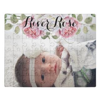 Rosen-Blumenstrauß Ihr Baby oder das Foto und der Puzzle
