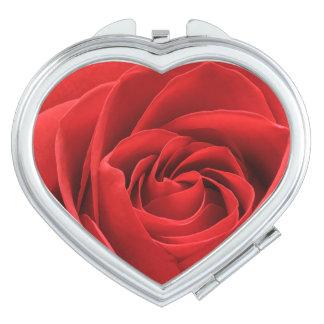 Rosen-Blüten-Vertrags-Spiegel Taschenspiegel