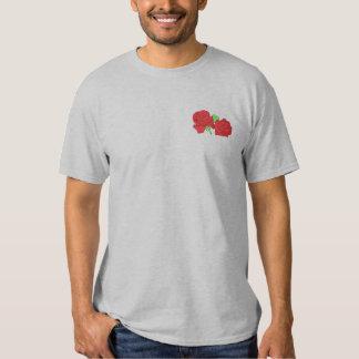 Rosen-Deckel Besticktes T-Shirt
