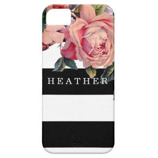 Rosen der MODERNER Chic-breite Streifen-w, Save iPhone 5 Etuis