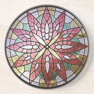 Rosen-Fenster-Sandstein-Untersetzer Sandstein Untersetzer
