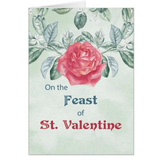 Rosen-Fest von St.Valentine Karte